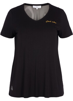 Fitness T-shirt with mesh
