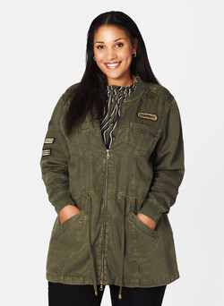 Parka im Military-Style