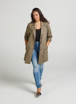 Long blazer en lin
