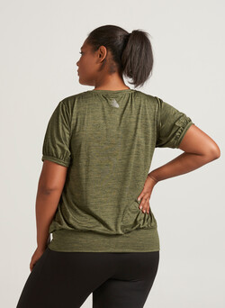 Training blouse with short sleeves